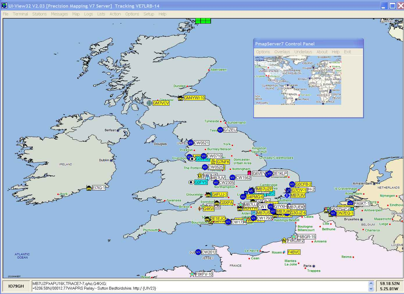 Screenshot of UK in UI-View32 using PMapServer7 and Precision Mapping 7. Click picture to go back.